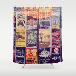 Concert posters Shower Curtain