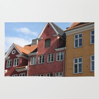 copenhagen Area & Throw Rugs featuring Copenhagen Sun by Abby Hoffman