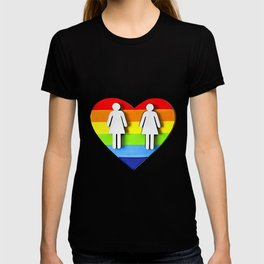 LGBT, Gay and Lesbian Quotes, Designs of Rainbows Flags and Hearts (11) T-shirt