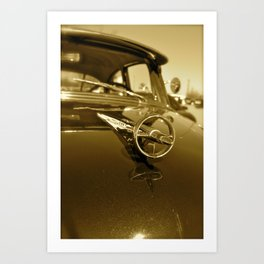Old Buick 8 Art Print