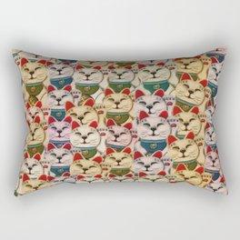 Maneki-neko cats pattern Rectangular Pillow