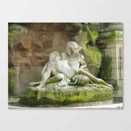 Lovers At Luxembourg Garden  Canvas Print