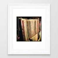 vinyl Framed Art Prints featuring Vinyl by strentse