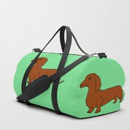 The cute dachsund Duffle Bag
