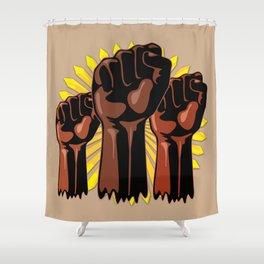 Black Power Raised Fists Shower Curtain