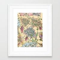 tiffany Framed Art Prints featuring tiffany garden by Ariadne