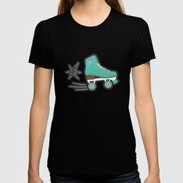 Vintage Roller Skates on blackboard pattern T-shirt