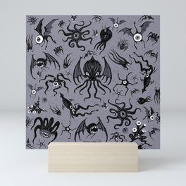 Cosmic Horror Critters in Twilight Zone Glow Mini Art Print
