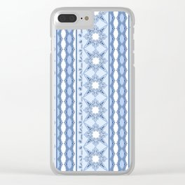 Kitty in a Blue Shoe Lace Clear iPhone Case