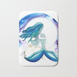 Sirena y la luna Bath Mat