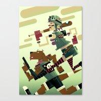 tank girl Canvas Prints featuring Tank Girl by Gabriela Zurda