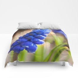 Grape Hyacinth Photography Print Comforters