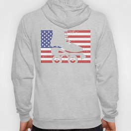 United States Flag & Roller Skating Hoody
