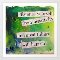 positive Art Prints featuring Positive by Brianna M. Garcia