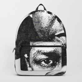 Denzel Hayes Washington Jr. - Society6 Online Movie Star - Actor - Stare down Backpack