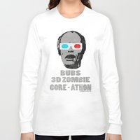 gore Long Sleeve T-shirts featuring Bubs 3D Zombie Gore-athon by Iamzombieteeth Clothing