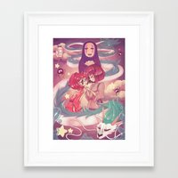 spirited away Framed Art Prints featuring Spirited Away  by SweetOwls