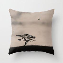Minimalist jungle landscape Throw Pillow