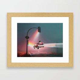 Levitation highway street Framed Art Print