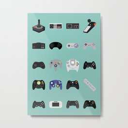 Console Evolution Metal Print