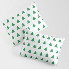 seamless green christmas tree pattern Pillow Sham