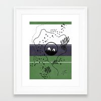 middle earth Framed Art Prints featuring Middle Earth by Cécile Pellerin