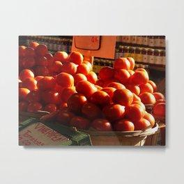 Light on the Tomatoes Metal Print