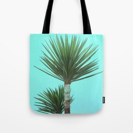 Explosive Palm Leaves Grow on Wild Tropical Island Plant Tote Bag