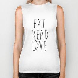 Eat Read Love Biker Tank