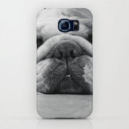 Black and White English Bulldog Photography iPhone Case