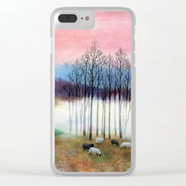 Early Morning by the Pond Clear iPhone Case