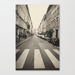 The streets of Paris, France Canvas Print