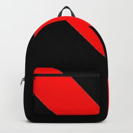 Oblique red and black Backpack