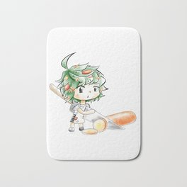Chibi Salad Personified Bath Mat