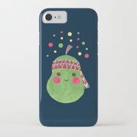 hippie iPhone & iPod Cases featuring Hippie Pear by haidishabrina