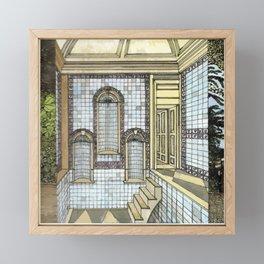 BATH HOUSE Framed Mini Art Print