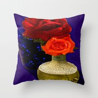 tequila Throw Pillows featuring Tequila Rose by TexasArt