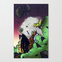 White Buffalo Queen Canvas Print