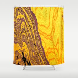 from yellow dunes to ugly shore Shower Curtain