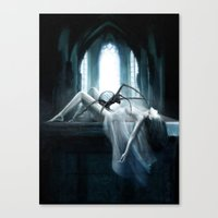 demon Canvas Prints featuring Demon by Joe Roberts