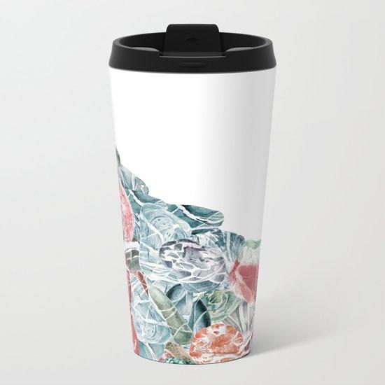 Coral Sea Pebbles Metal Travel Mug