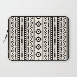 Aztec Black on Cream Mixed Motifs Pattern Laptop Sleeve