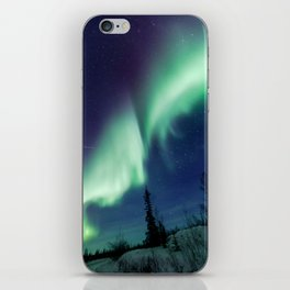 Northern Lights and shooting stars iPhone Skin