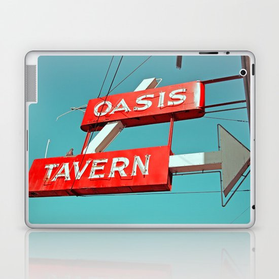 Oasis sign Laptop & iPad Skin