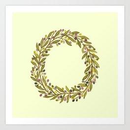 Leafy Letter O Art Print