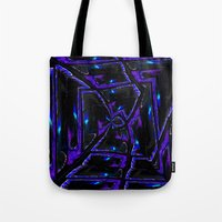 gothic Tote Bags featuring Gothic by David  Gough