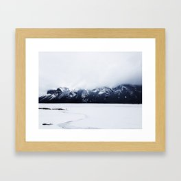 Alone on the lake Framed Art Print