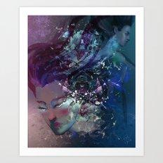 Black Hole Apprehension Art Print