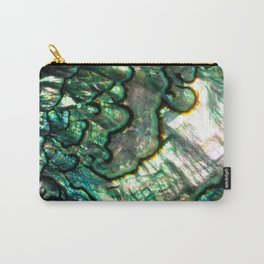 Shimmering Green Abalone Mother of Pearl Carry-All Pouch