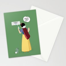 SnowWhite - A smile and a song Stationery Cards